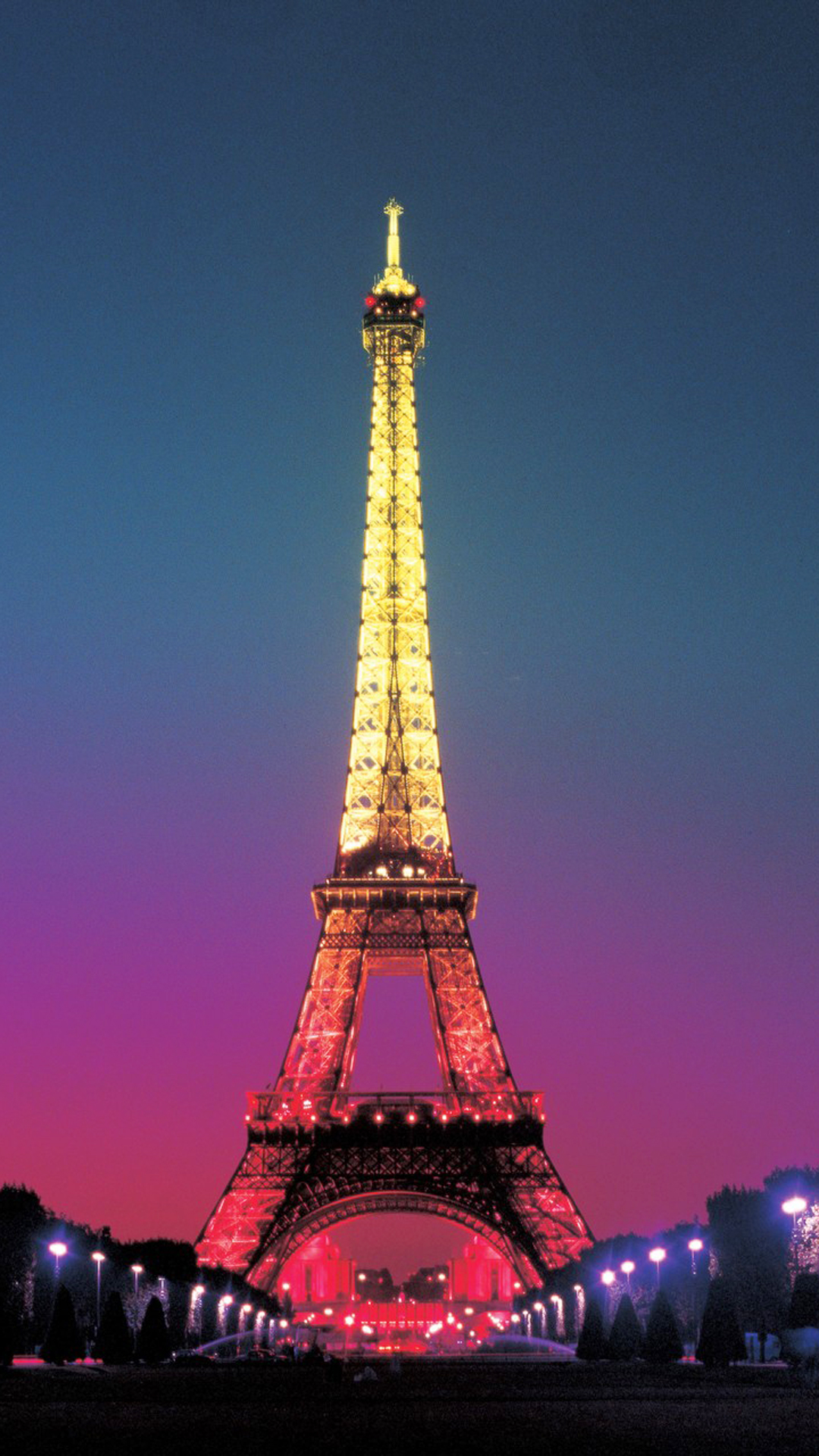 Cute Girly Wallpapers For Android Colorful Light On Eiffel Tower
