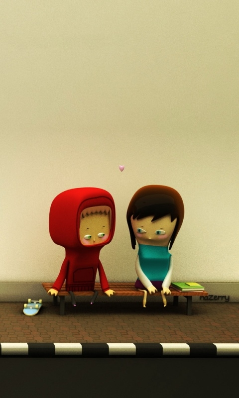 Cute Love Couple Wallpaper For Whatsapp Cartoon Love Wallpaper