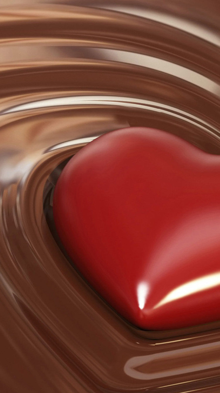 3d Patriots Wallpaper Heart In Liquid Chocolate