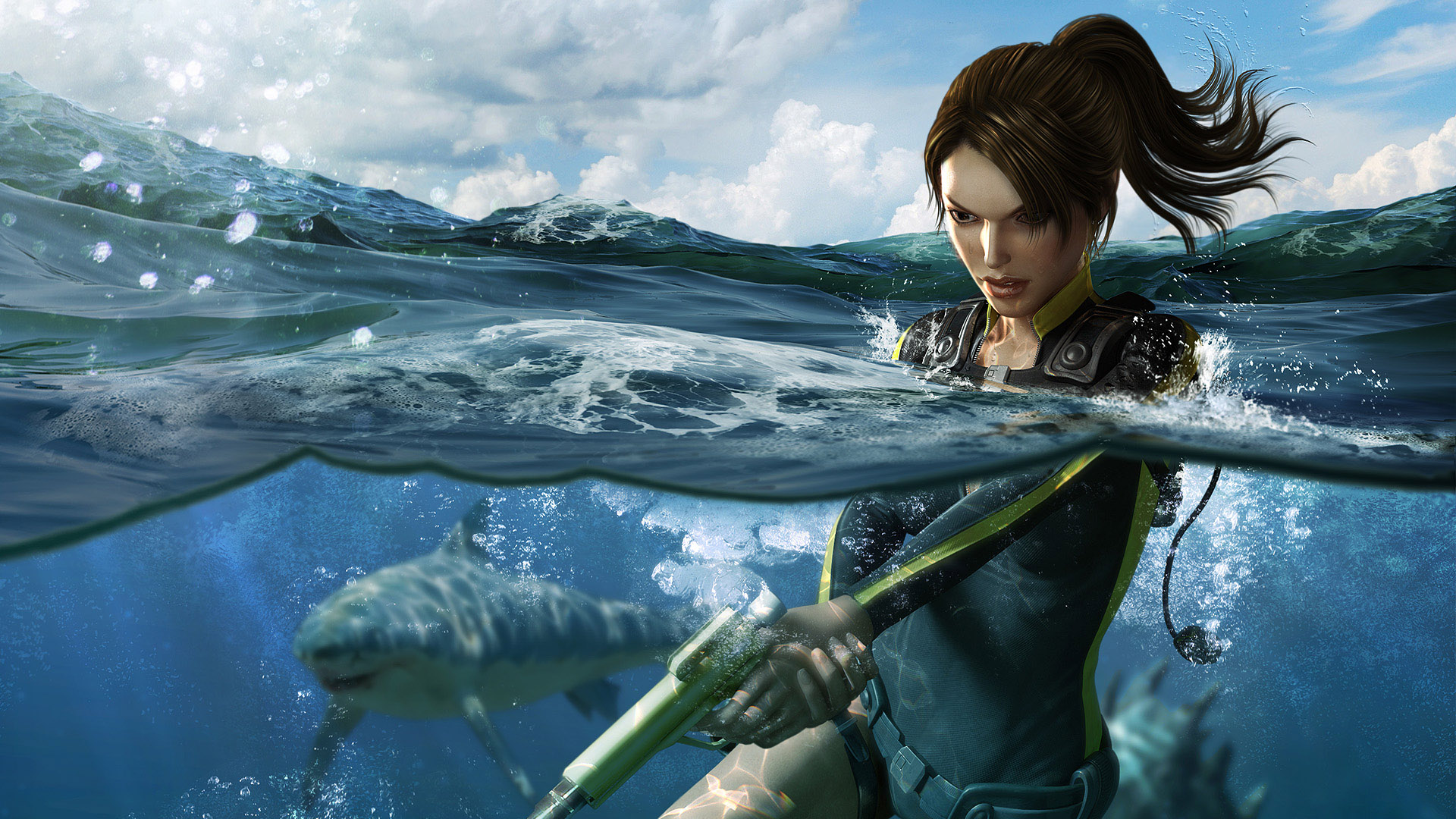 Girlish Wallpapers With Quotes Water Shooting Fantasy Girl