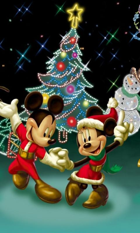 Desktop Wallpaper Wild And Free Quote Mickey Minnie Dance On Christmas