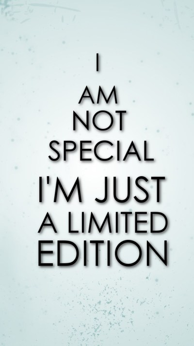 Limited Edition Funny Mobile Quote