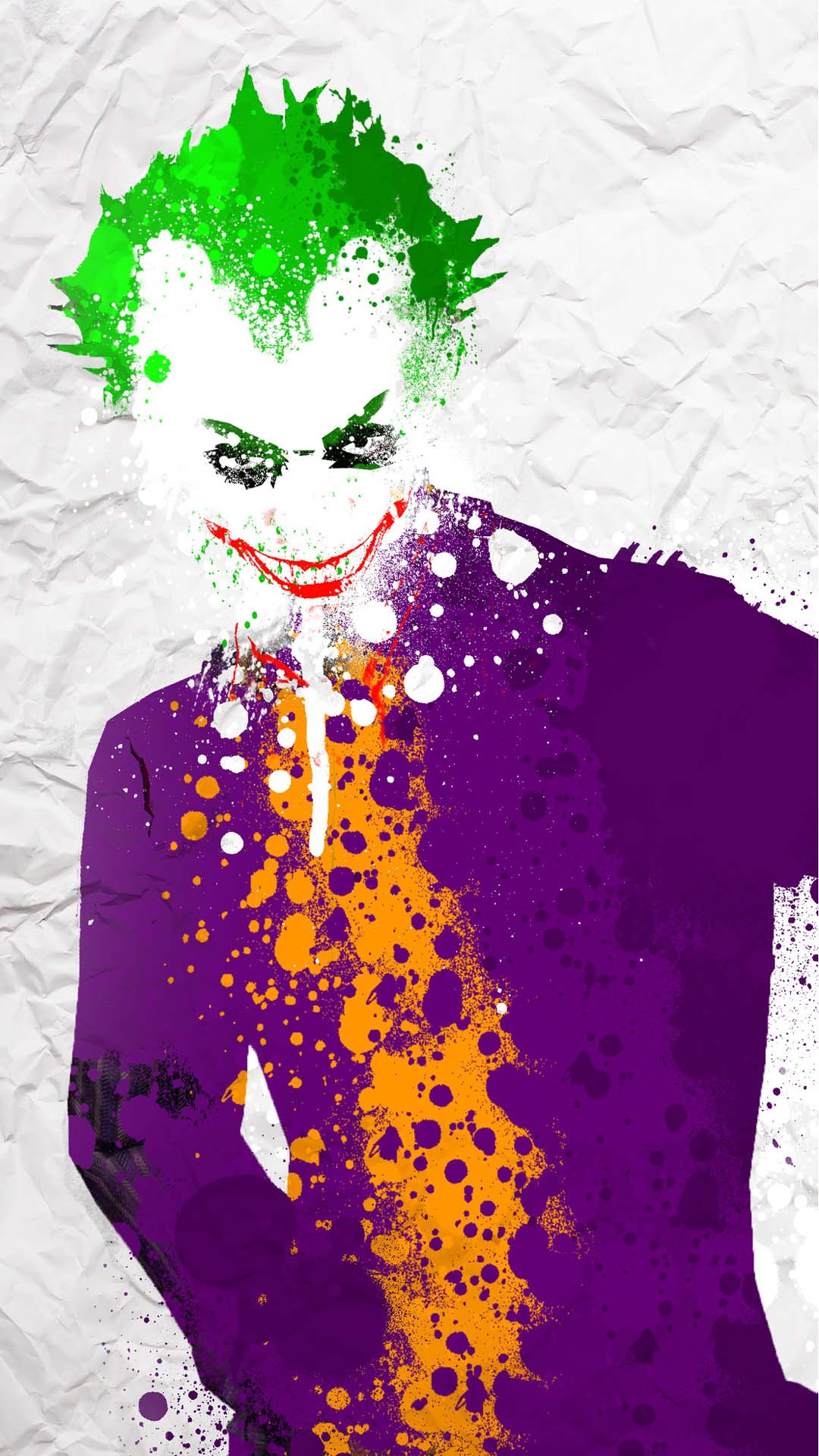 Happy Thanksgiving 3d Wallpaper Joker Splatter Funny Colors