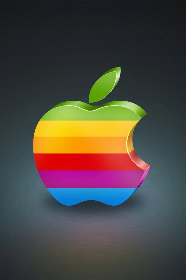 Cute Wallpapers For Desktop With Friendship Quotes Colorful Apple Logo 3d