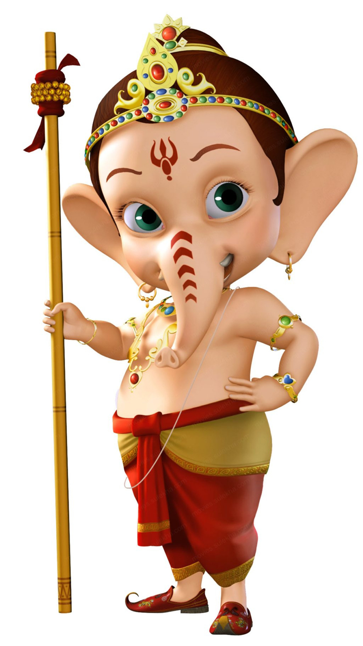 Vinayagar Animation Wallpaper Bal Ganesha Hd Cartoon