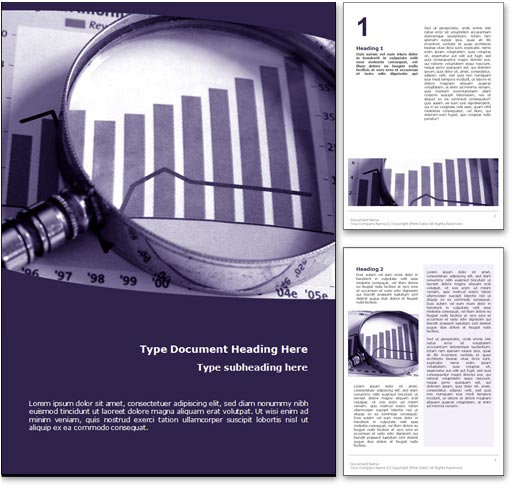 Royalty Free Money Market Microsoft Word Template In Purple