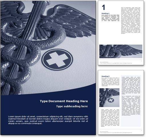 Royalty Free Medicine Microsoft Word Template In Blue - Medical Templates For Word