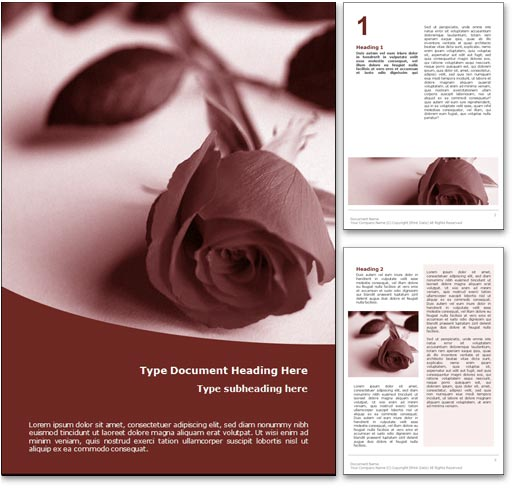 Royalty Free Funeral Microsoft Word Template in Red