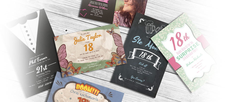 Personalised Party Invitations Create Party invitations Online