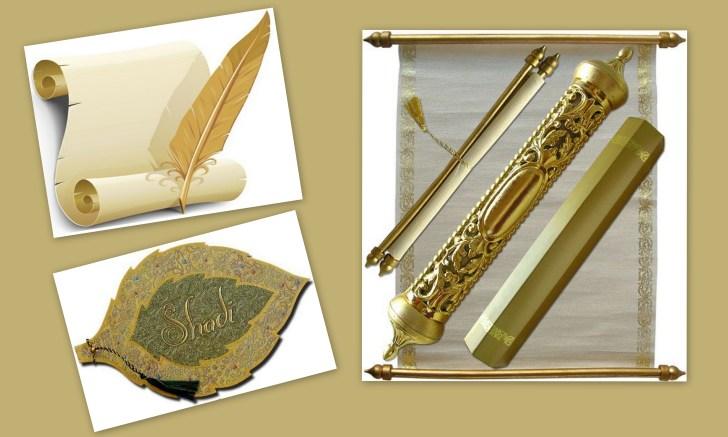 top 5 trends of muslim wedding invitations scroll wedding invitations Muslim Scroll Wedding Invitations WeddingCards