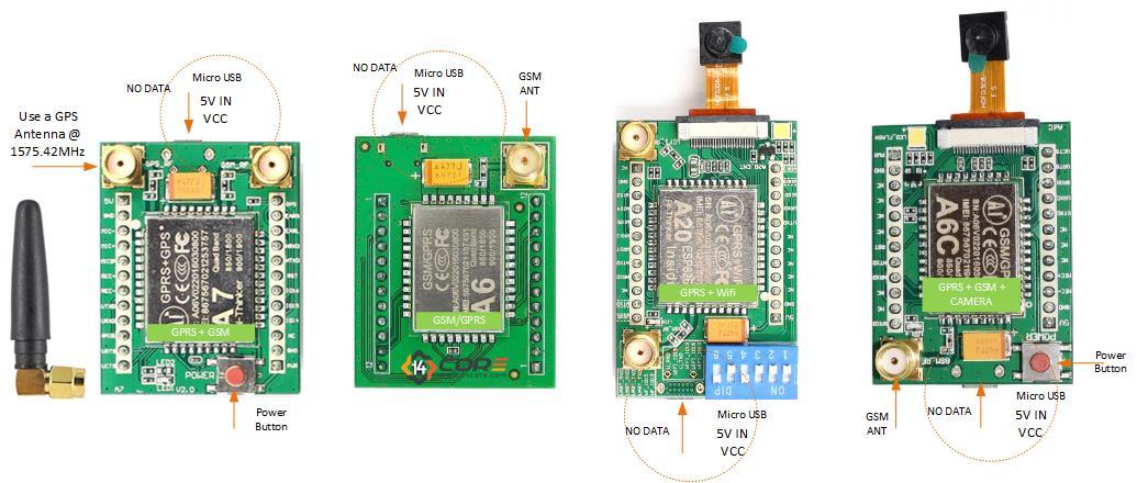 Wiring the A7 / A6 / A6C / A2 / A20 GSM GPRS / GPS WIFI Quad Band 2G