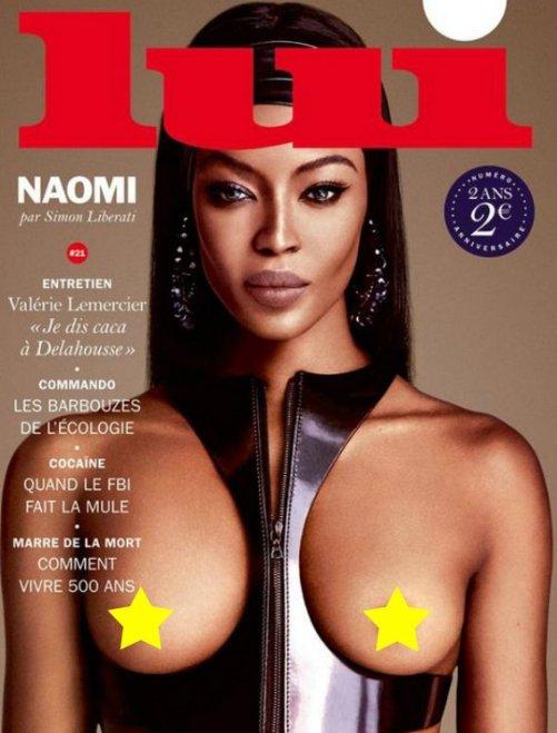 Foto Bugil Naomi Campbell Di Majalah Lui