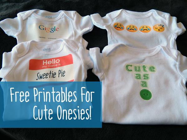FREE printable iron-ons for onesies! - 15 minute cheapskate - onesies designs