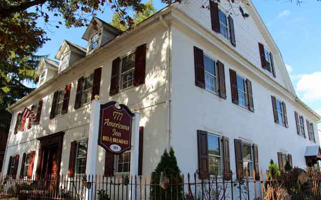 Location of 1777 Americana Inn Bed and Breakfast Ephrata, Lancaster PA