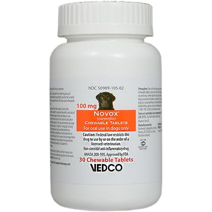 Novox for Dogs Rimadyl Generic Pain Medicine (NSAID) - 1800PetMeds