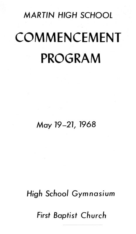 Graduation Program - Martin High School - Class of 1968