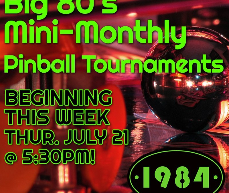 PINBALL TOURNAMENTS START THIS WEEK!