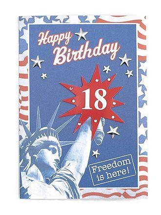 Geburtstagskarte zum 18 Geburtstag mit Briefumschlag - Online