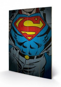 Superman - Superman Torso, Dc Comics - Wooden Wall Art ...