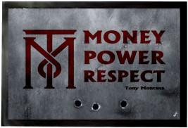 Scarface Money Power Respect Tony Montana Door Mats