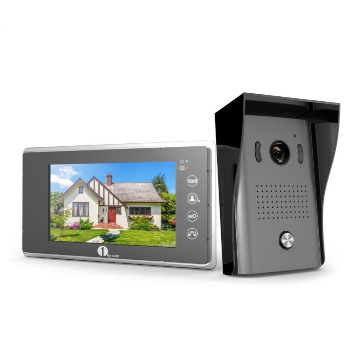 1byone Video Doorphone 2-Wires Video Intercom System 7-inch Color