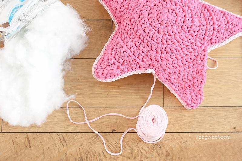 Sirius The Crochet Star Pillow One Dog Woof