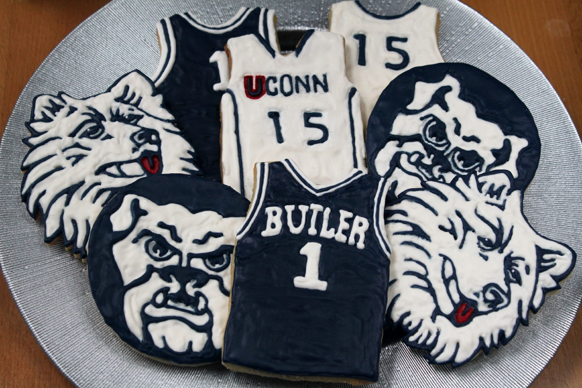 March Madness and Basketball Jersey Cookies - 1 Fine Cookie