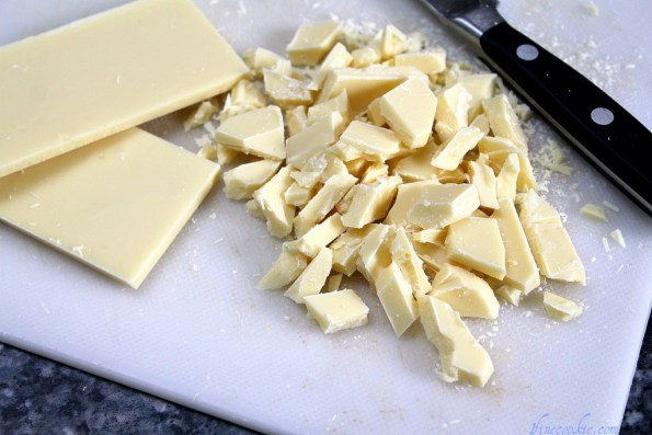 chop up white chocolate