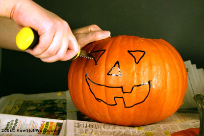 carving pumpkin