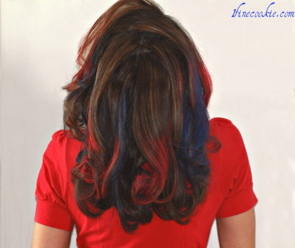 Red and Blue Giants hair sports hair patriots fan tailgate