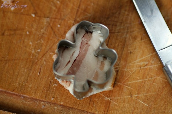 Use a cookie cutter on bacon