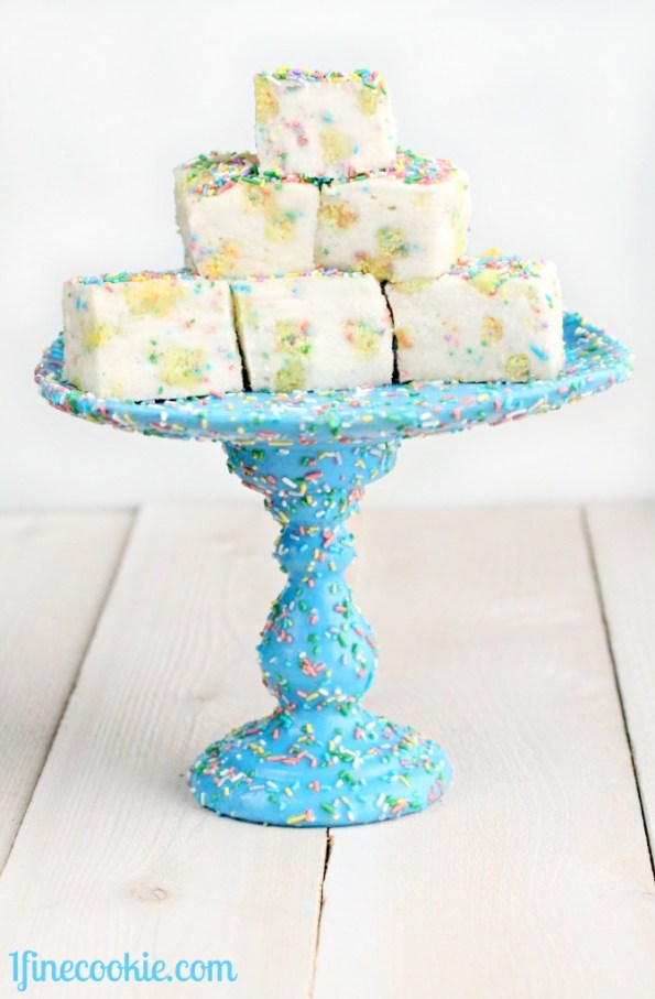 1 Fine Cookie's how to make funfetti cake, Birthday Cake Batter Marshmallows by 1 Fine Cookie, cake marshmallows, sprinkles marshmallows, birthday cake marshmallows,