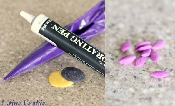 Materials for Baltimore Ravens Nuts by 1 Fine Cookie Football Nuts by 1 Fine Cookie superbowl football snacks recipe party ideas almond chocolate white candy melts macadamia nuts tailgate tailgating menu dessert gifts birthday theme sides candy favors 49ers purple black gold red silver blue food