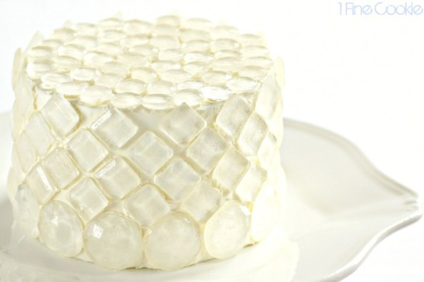 Edible Sugar Isomalt Diamond Covered Cake by 1 Fine Cookie, isomalt, diamonds, mold, how to, melt, sugar, hot sugar, cheecake, cupcakes, cake, sparkling, pearl, glitter, white chocolate, batter, ganache, air bubbles, butterflies, white, bachelorette, sugar gems, isomalt gems, shimmer, get rid, prevent, air bubbles, silicone, wedding, bride, girl's best friend, birthday, baby, shower, bridal, new years eve,