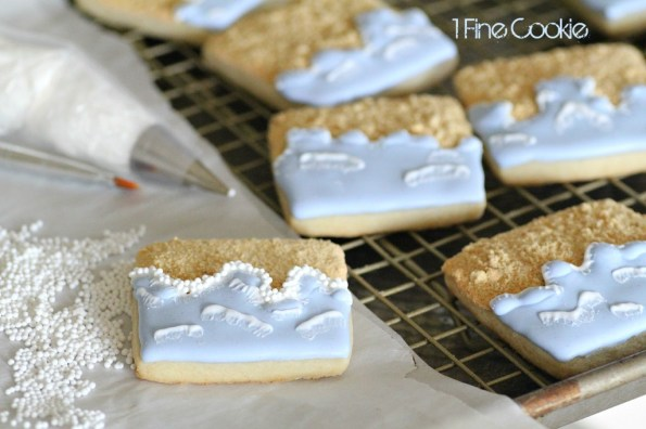 Beach sand cookies by 1 Fine Cookie