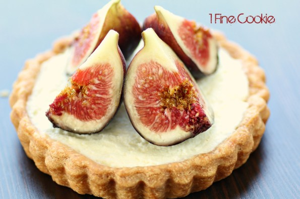 Fig Fruit Tart Recipe by 1 Fine Cookie, tart, crust, fruit, fresh, creamy, cream, filled, butter, crust, recipe, dessert, chevron, graphic, preppy, food, idea, print, heavy, light, pink, seed, how, to, make, dough, baked, kitchenaid, small, bake, large, blog, foodie,