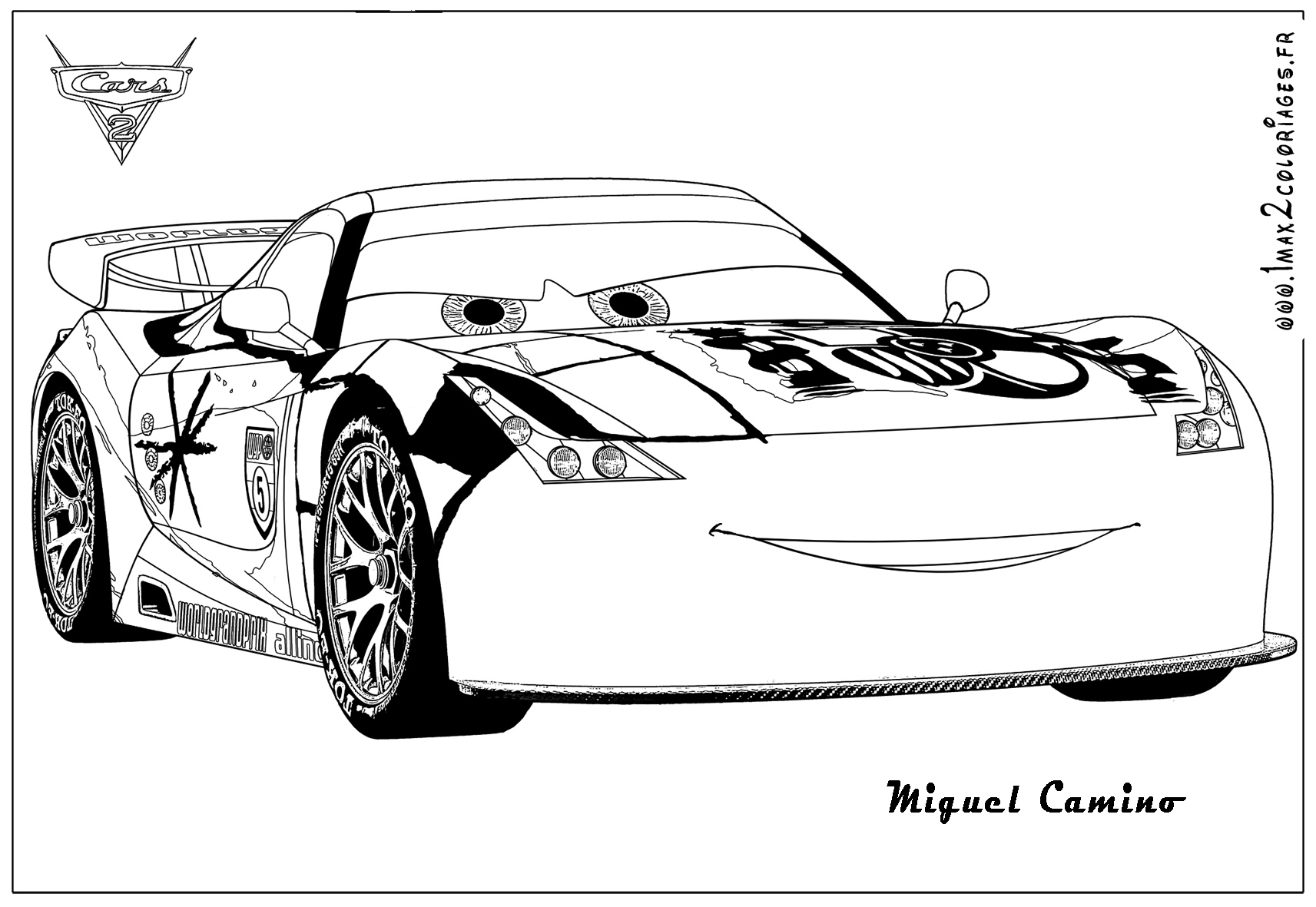 Cars Ausmalbilder Francesco : Cars 1 Coloring Pages Democraciaejustica