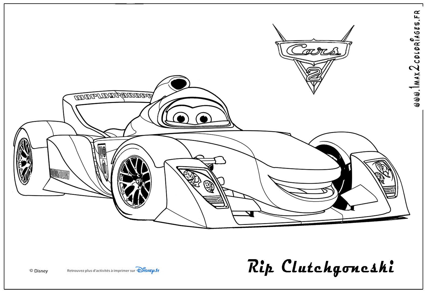 Cars 2 coloring pages - Flo Cars Colouring Pages Page 3 Cars 2 Rip Clutchgoneski Coloriages Les Bagnoles 1713x1181 Cars Download