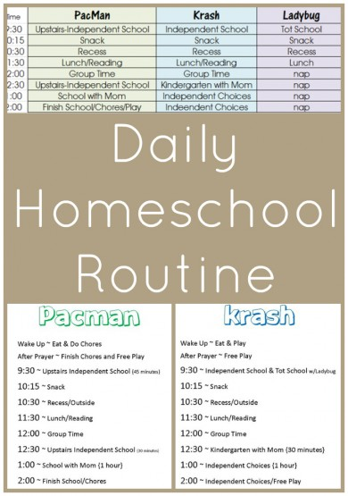 Schedules and Routines Archives - 1+1+1\u003d1