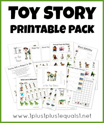 Toy Story Preschool Pack ~ Free Printables! - 1+1+1\u003d1