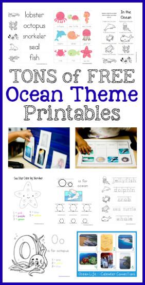 Ocean Theme Printables  More - 1+1+1\u003d1