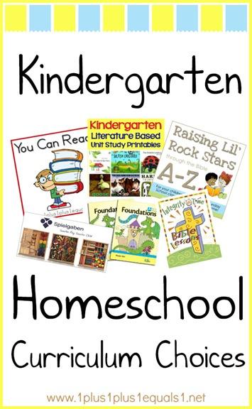 Kindergarten Homeschool Curriculum Choices