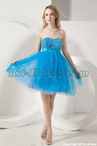 Teal Blue Empire Sweet 16 Dresses for Large Size:1st