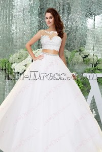 Fantastic 2 Pieces White Quinceanera Dress 2016:1st-dress.com