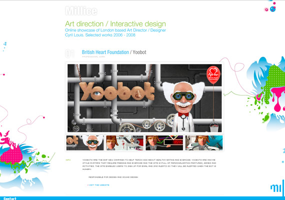millice-creative-flash-webdesign-inspiration