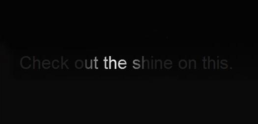Shining-css3-text-effect-tutorials