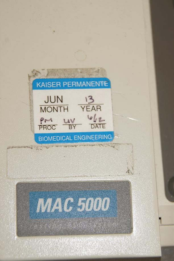 Used Marquette Mac 5000 EKG / ECG Machines for Sale in San Diego