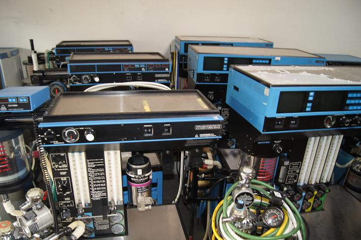 Narcomed Anesthesia Machines for Sale 2A, 2B, 2C machines with gases and vaporizers 858-731-7278