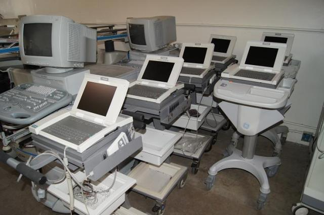 UIltrasounds and EKG machines including Siemens and Marquette Mac 5000's