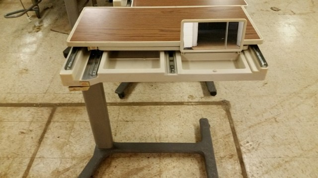 Hill Rom Patient Mate JR side bed table